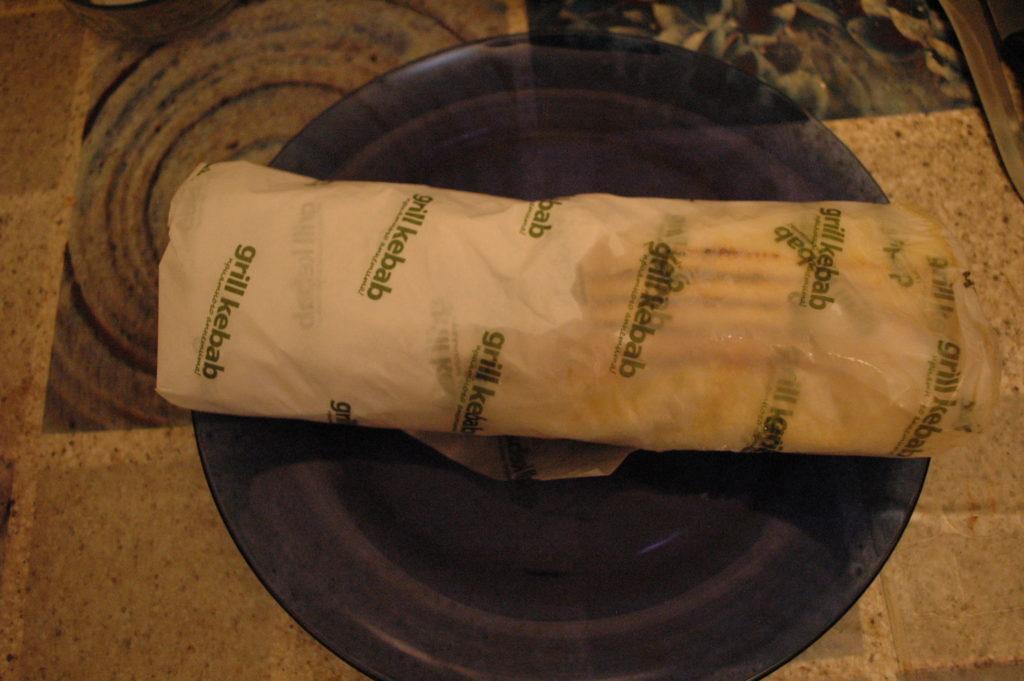 подтекшая шаурма Grill kebab