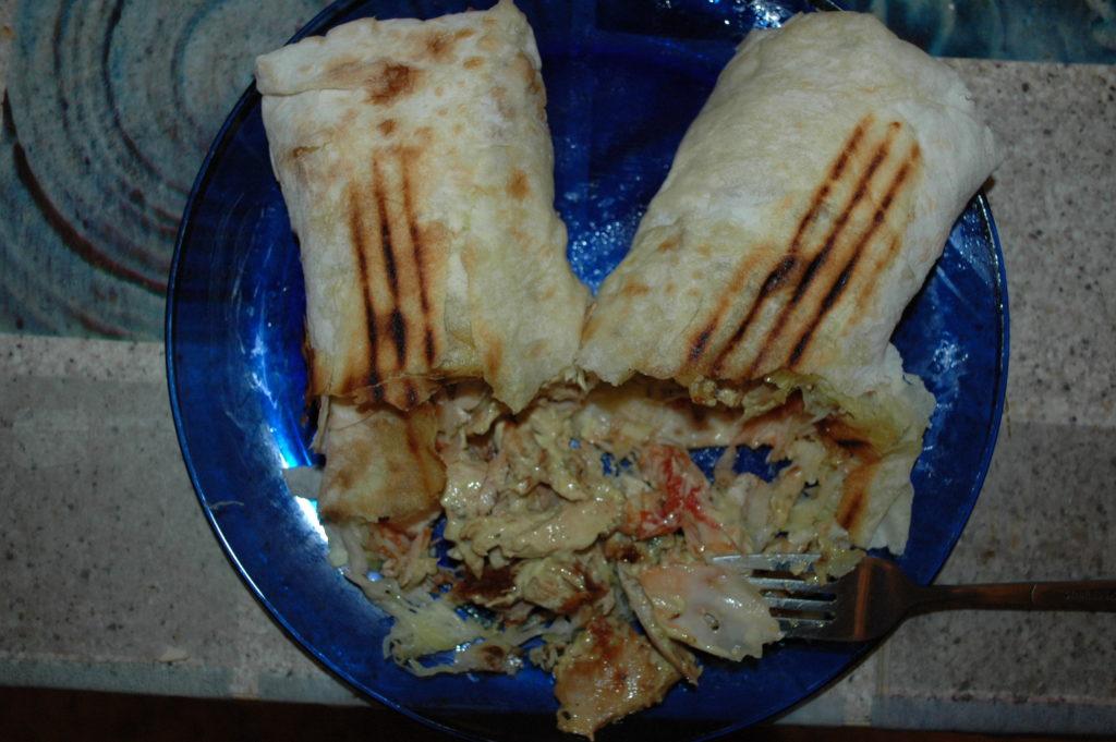 Содержимое ролла большой шаурмы Grill kebab