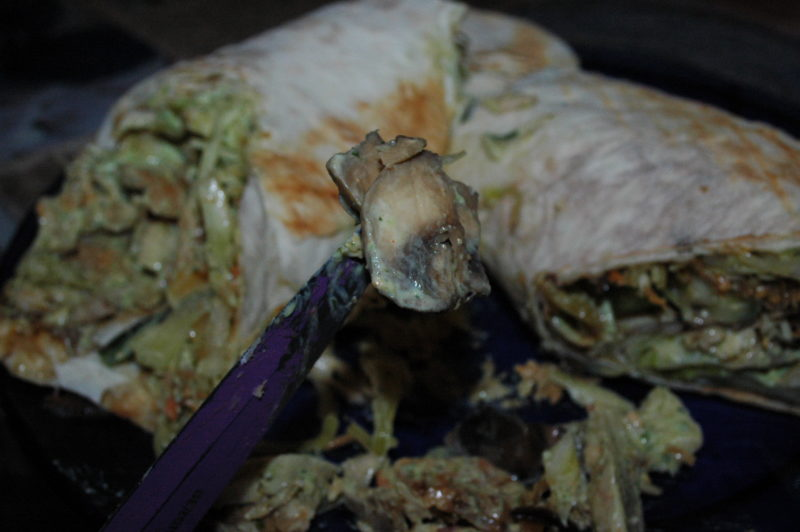 Образец мясного кусочка шаурмы из кафе Донер Кебаб
