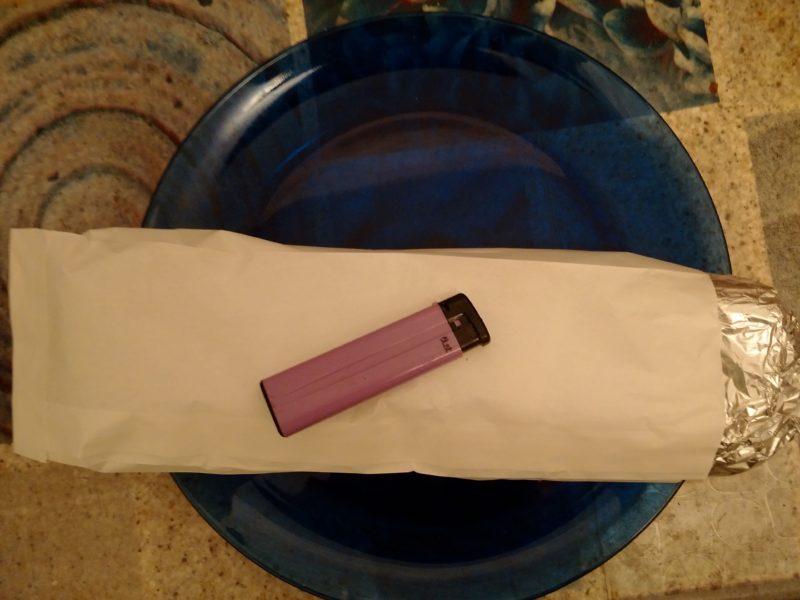 Упаковка шаурмы от Хассана.