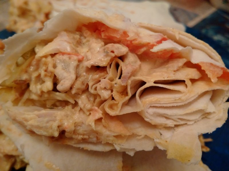 Хвостик шаурмы из кафе Gril Kebab на Логойском тракте.