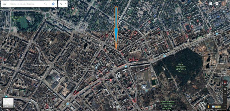 """Как добраться до кафе """"Вавилон"""" на улице Сурганова в Минске."""